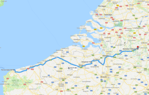 Calais to TerSpegelt map