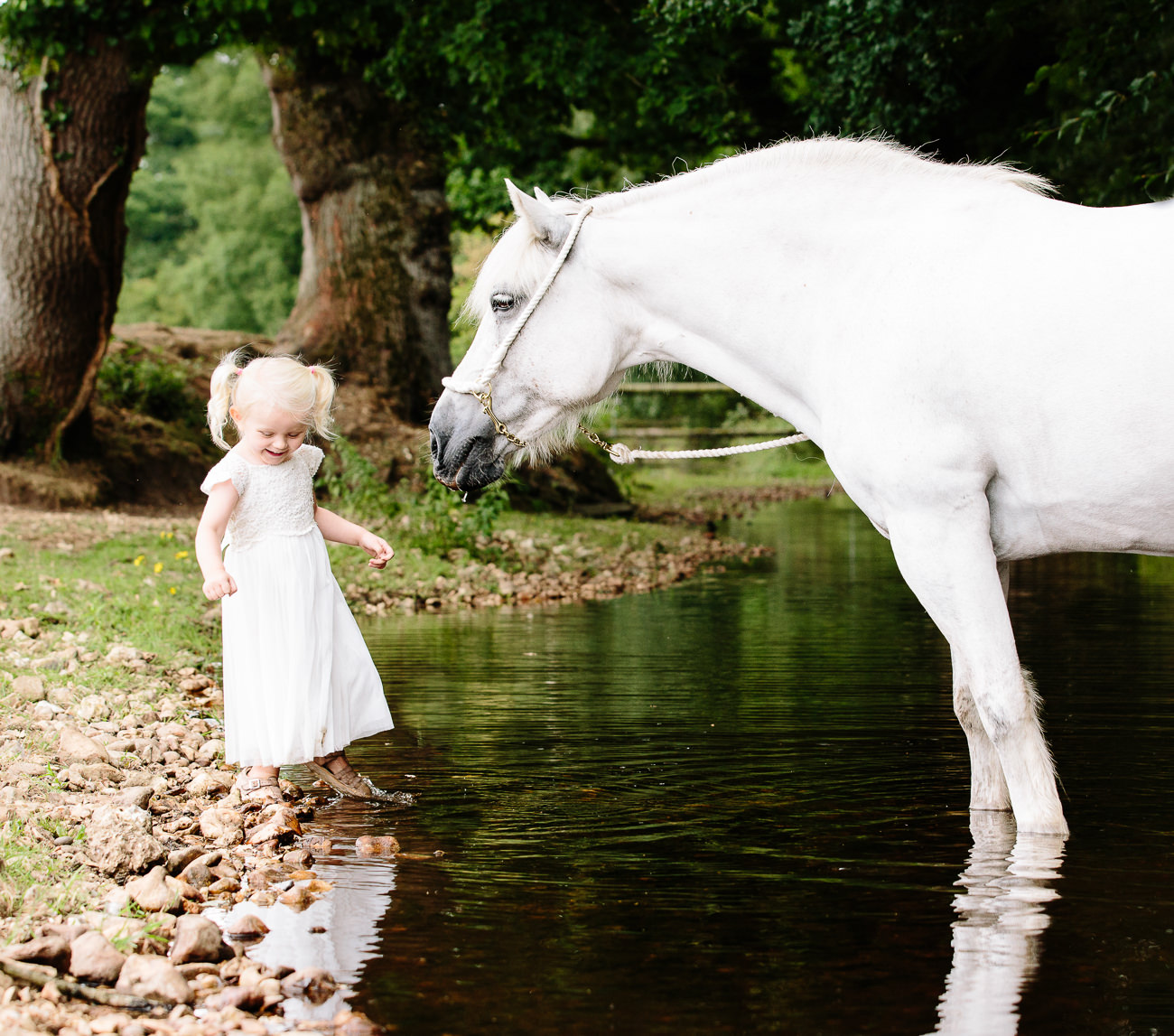 Pony by Stream #equinephotographer