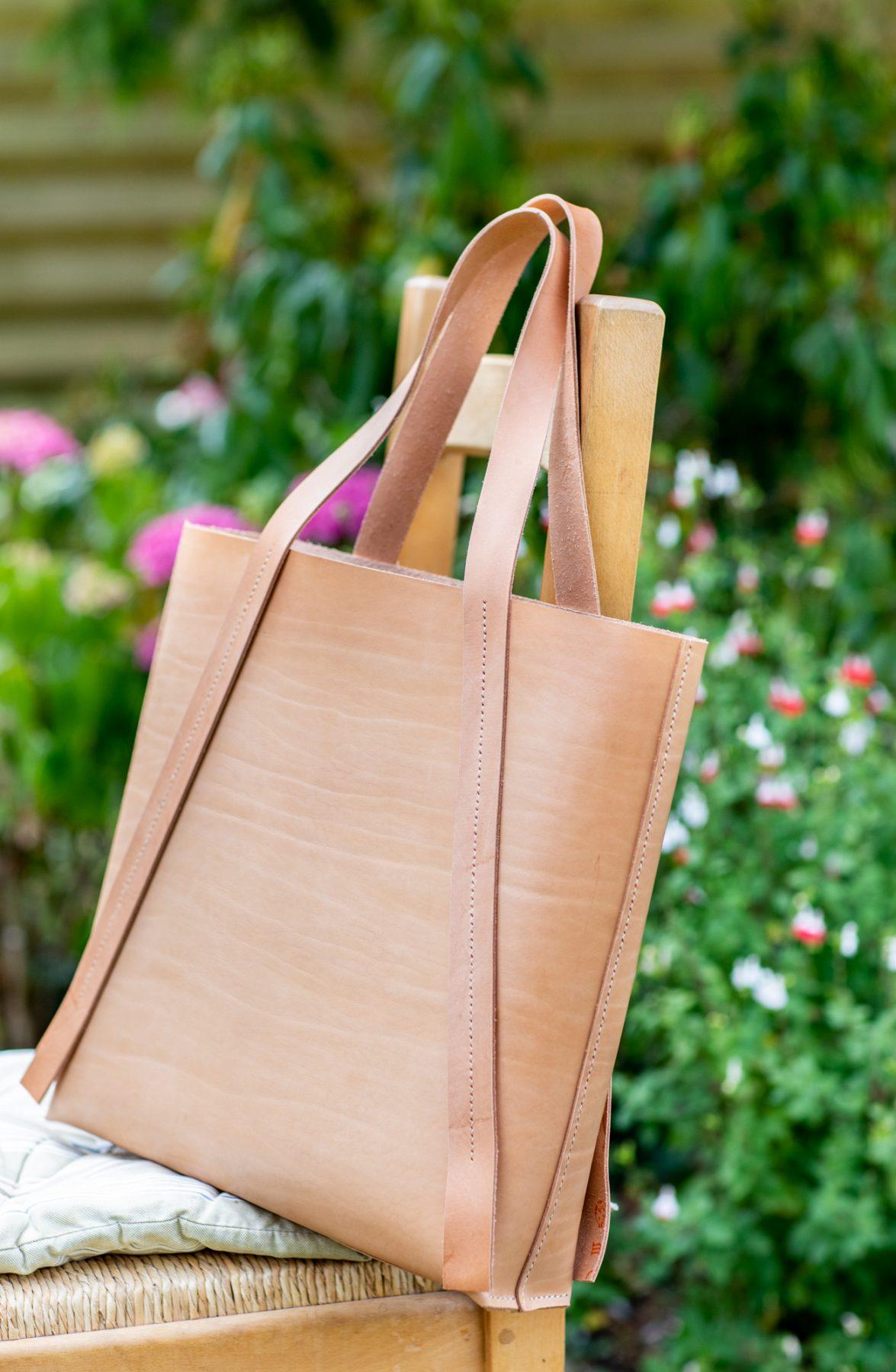 handmade leather bags branding product shots